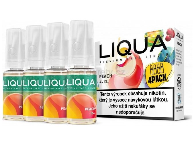 Liquid LIQUA CZ Elements 4Pack Peach 4x10ml-6mg (Broskev)