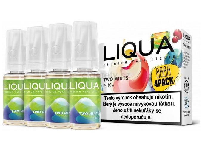 Liquid LIQUA CZ Elements 4Pack Two mints 4x10ml-3mg (Chuť máty a mentolu)