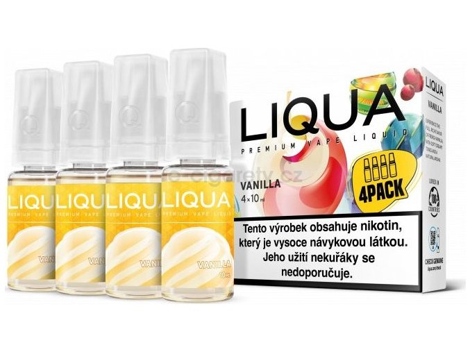 Liquid LIQUA CZ Elements 4Pack Vanilla 4x10ml-3mg (Vanilka)