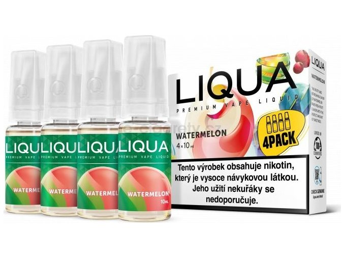 Liquid LIQUA CZ Elements 4Pack Watermellon 4x10ml-6mg (Vodní meloun)