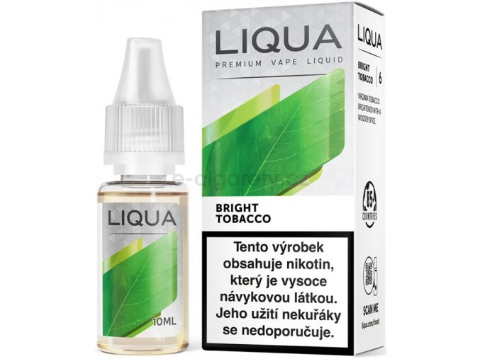 Liquid LIQUA CZ Elements Bright Tobacco 10ml-0mg (čistá tabáková příchuť)