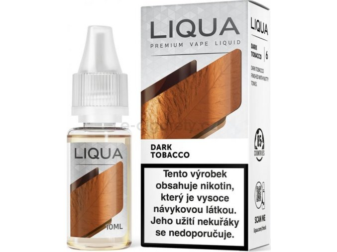 Liquid LIQUA CZ Elements Dark Tobacco 10ml-0mg (Silný tabák)