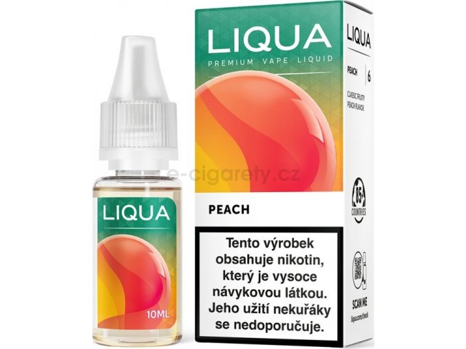 Liquid LIQUA CZ Elements Peach 10ml-0mg (Broskev)
