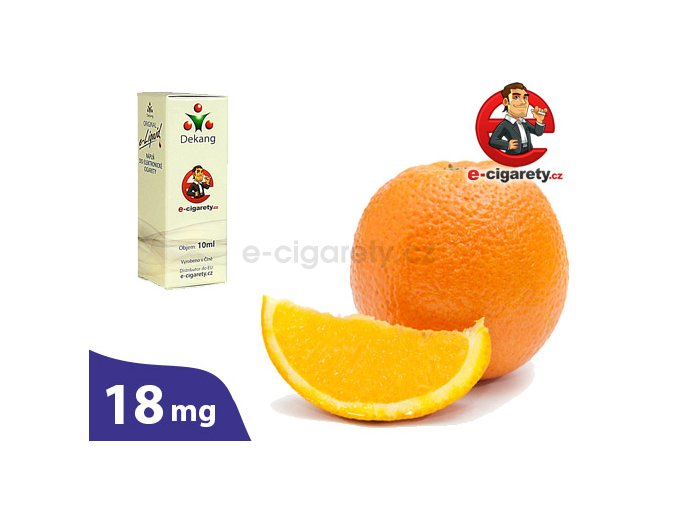 E-liquid Dekang Pomeranč (Orange) - 10ml, 18mg