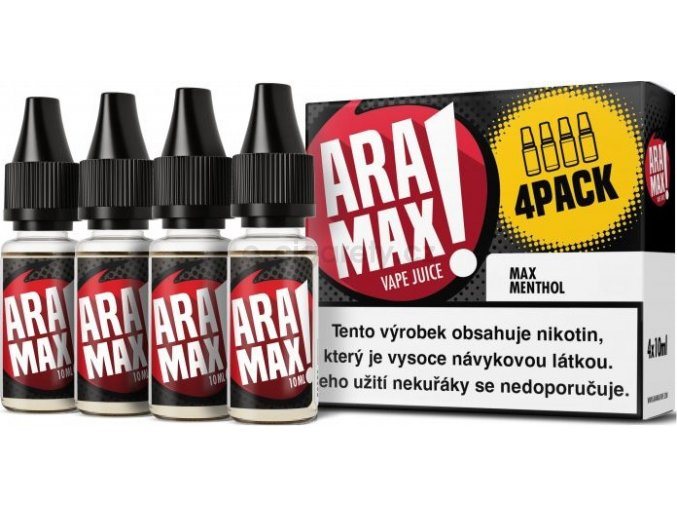 Liquid ARAMAX 4Pack Max Menthol 4x10ml-6mg