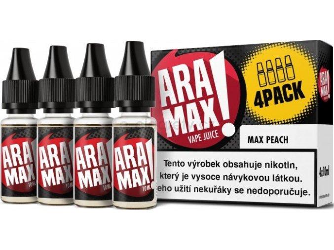Liquid ARAMAX 4Pack Max Peach 4x10ml-6mg