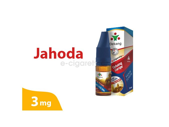 DekangEU liquid jahoda 10ml 3mg