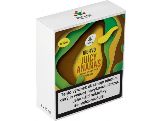 Liquid Dekang High VG 3Pack Juicy Ananas 3x10ml - 3mg