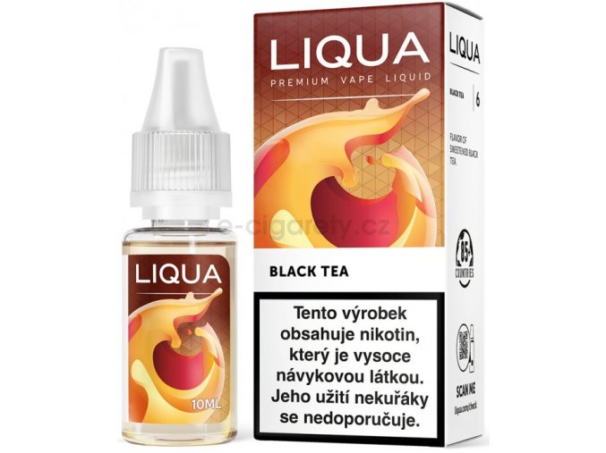 Liquid LIQUA CZ Elements Black Tea 10ml-6mg (černý čaj)