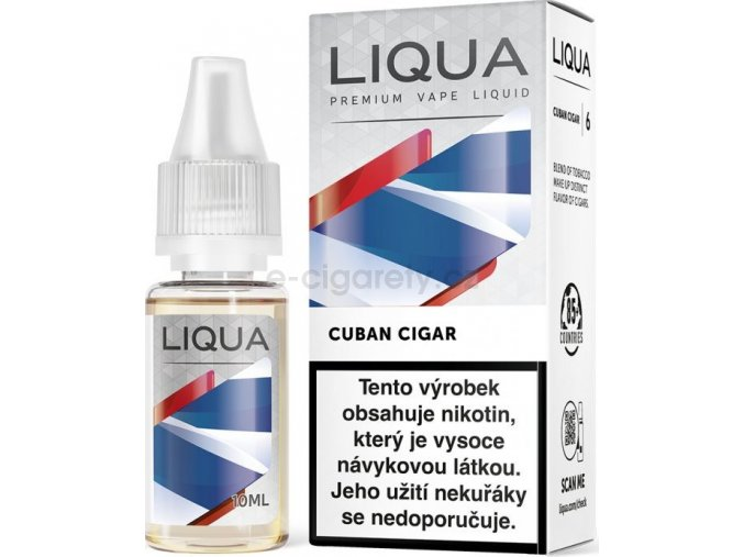 Liquid LIQUA CZ Elements Cuban Tobacco 10ml-18mg (Kubánský doutník)