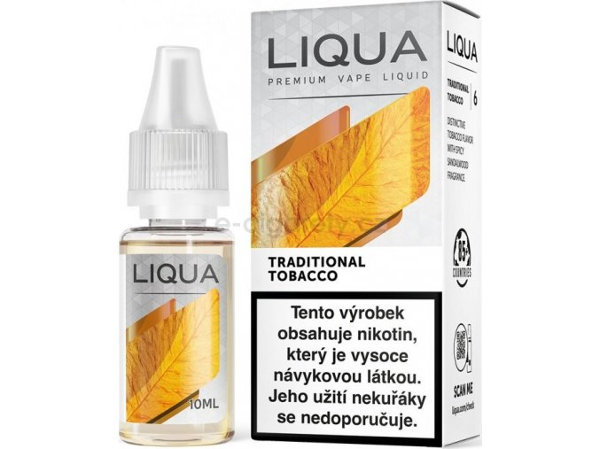 Liquid LIQUA CZ Elements Traditional Tobacco 10ml-6mg (Tradiční tabák)