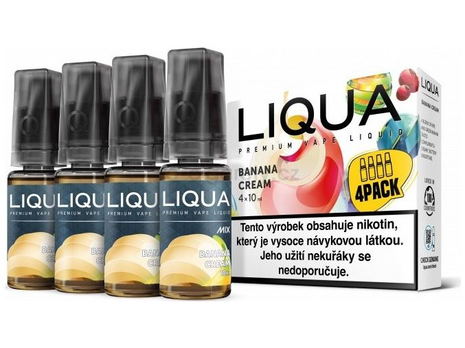 Liquid LIQUA CZ MIX 4Pack Banana Cream 10ml-6mg