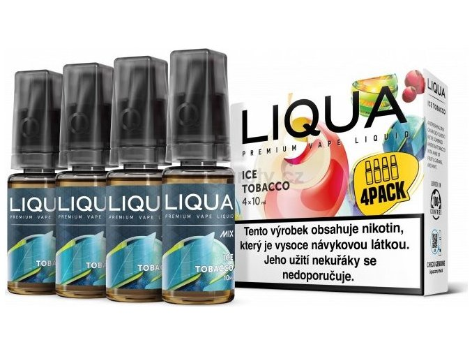Liquid LIQUA CZ MIX 4Pack Ice Tobacco 10ml-6mg