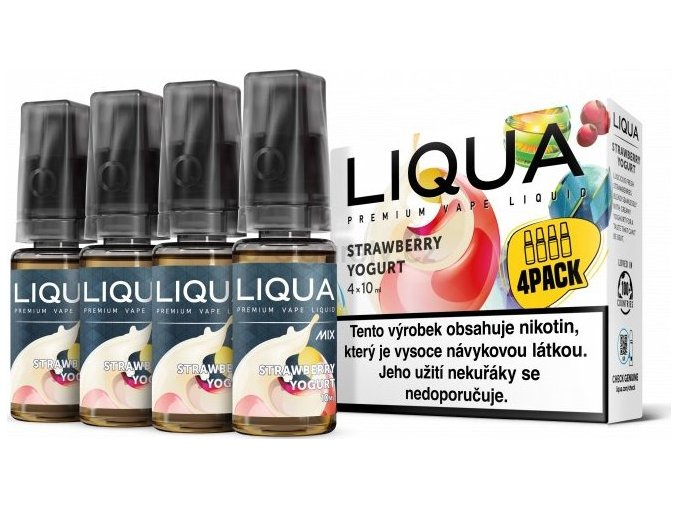 Liquid LIQUA CZ MIX 4Pack Strawberry Yogurt 10ml-6mg