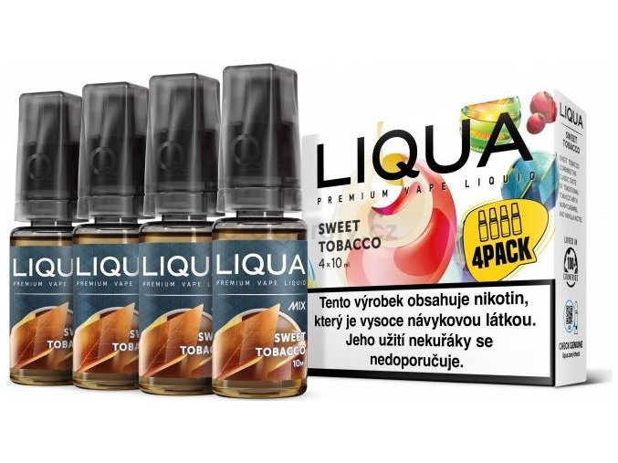 Liquid LIQUA CZ MIX 4Pack Sweet Tobacco 10ml-12mg
