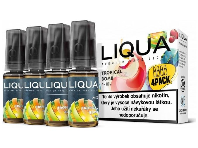 Liquid LIQUA CZ MIX 4Pack Tropical Bomb 10ml-6mg