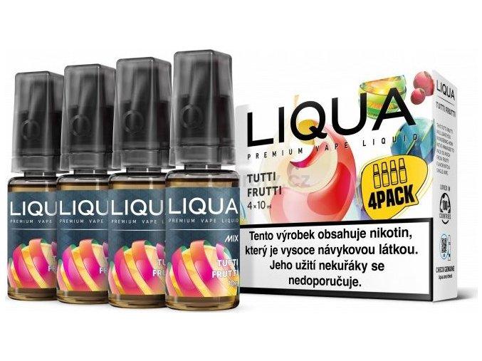 Liquid LIQUA CZ MIX 4Pack Tutti Frutti 10ml-6mg