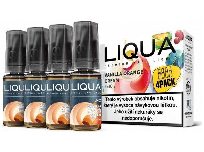 Liquid LIQUA CZ MIX 4Pack Vanilla Orange Cream 10ml-3mg