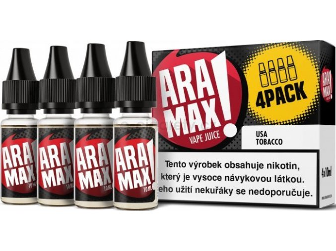 Liquid ARAMAX 4Pack USA Tobacco 4x10ml-18mg