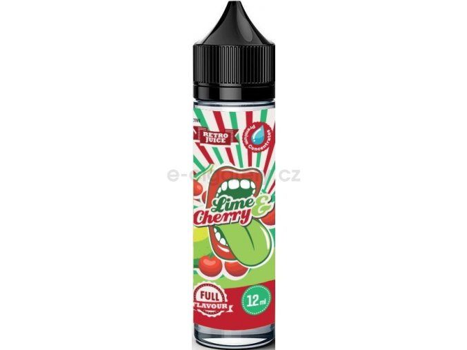 Příchuť Big Mouth Shake and Vape 12ml Retro Lime and Cherry