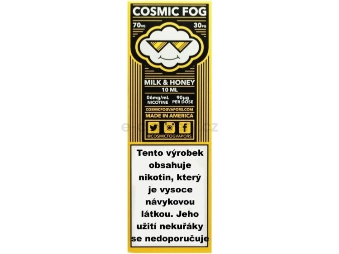 Liquid COSMIC FOG Milk and Honey 10ml-3mg