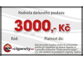Dárkový poukaz 3000,- Kč