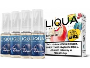 Liquid LIQUA CZ Elements 4Pack Blackberry 4x10ml-6mg (ostružina)