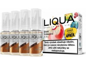 Liquid LIQUA CZ Elements 4Pack Dark tobacco 4x10ml-6mg (Silný tabák)