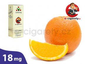 E-liquid Dekang Pomeranč (Orange) - 10ml, 18mg