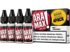 Liquid ARAMAX 4Pack Max Strawberry 4x10ml-6mg