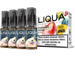 Liquid LIQUA CZ MIX 4Pack Strawberry Yogurt 10ml-3mg