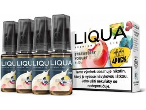 Liquid LIQUA CZ MIX 4Pack Strawberry Yogurt 10ml-3mg