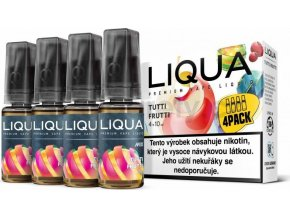 Liquid LIQUA CZ MIX 4Pack Tutti Frutti 10ml-6mg
