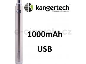 Kangertech EVOD baterie s USB 1000mAh Stříbrná