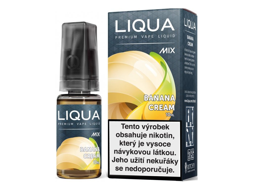 Liquid LIQUA CZ MIX Banana Cream 10ml-12mg