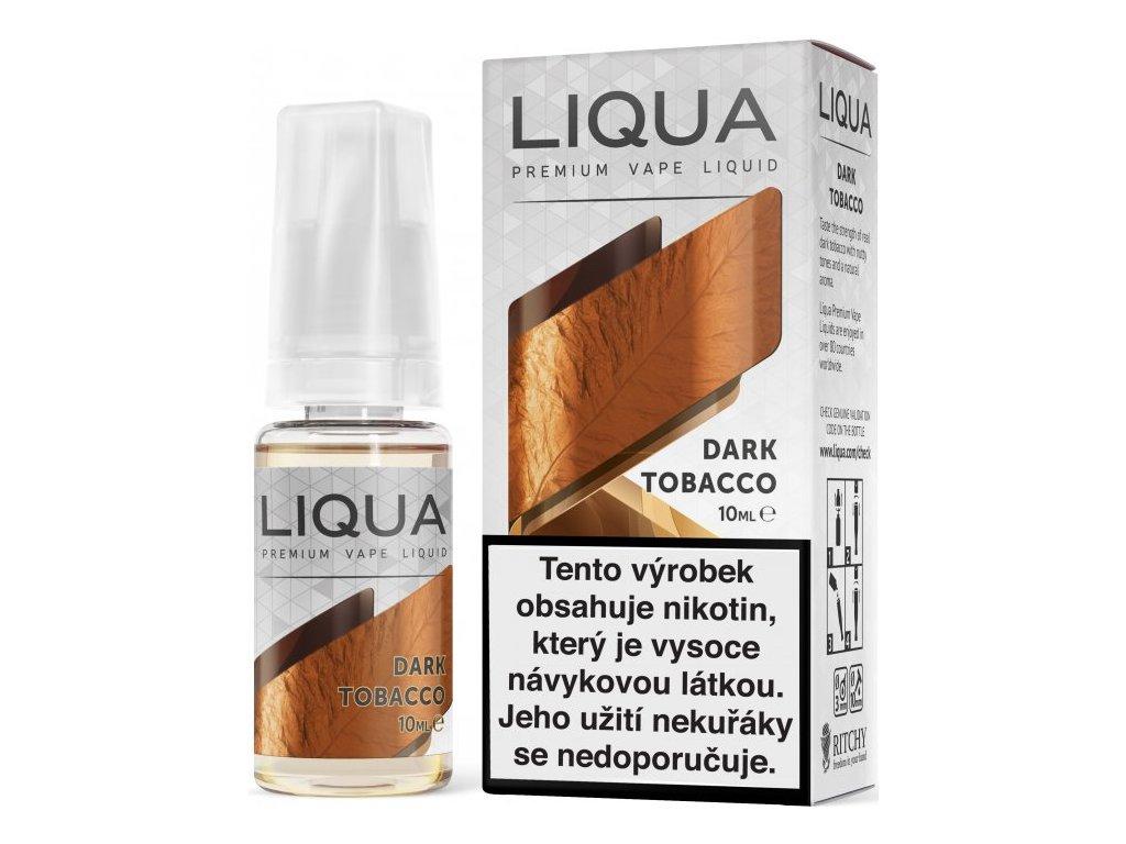 Liquid LIQUA Elements Dark Tobacco 10ml-12mg (Silný tabák)