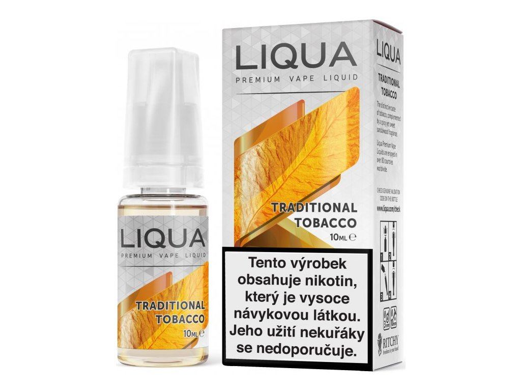 Liquid LIQUA Elements Traditional Tobacco 10ml-6mg (Tradiční tabák)
