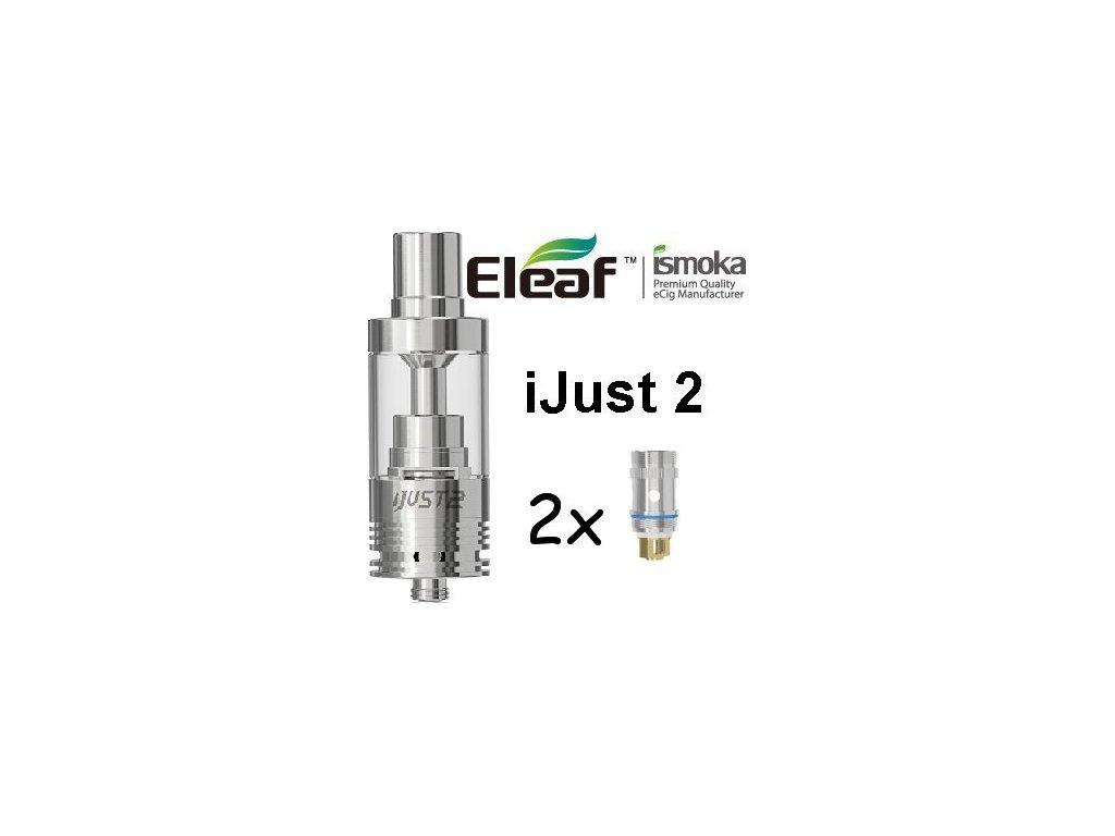 Eleaf iJust 2 clearomizer EC TC 0,15ohm Stříbrná