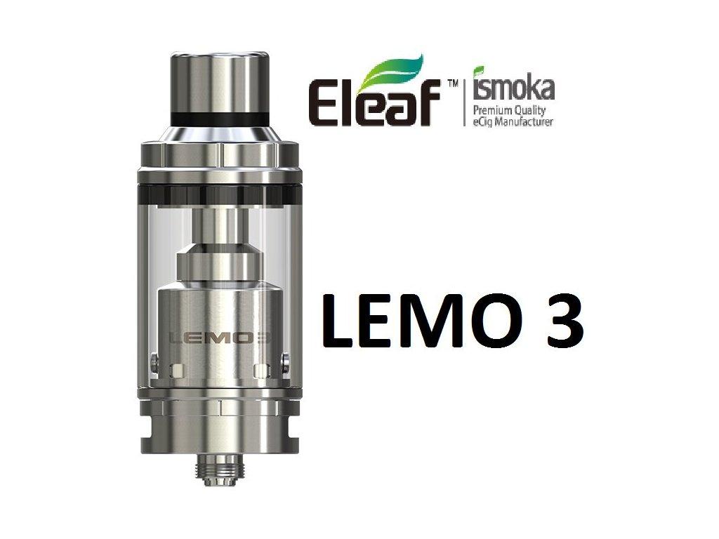 Eleaf Lemo 3 clearomizer Full Kit Stříbrná