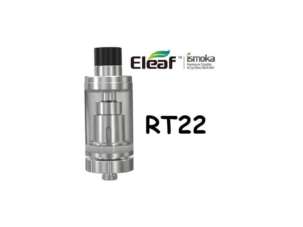 Eleaf Melo RT 22 clearomizer Stříbrná