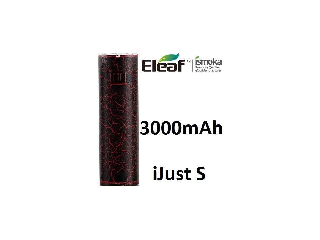 Eleaf iJust S baterie 3000mAh Červená Crackle