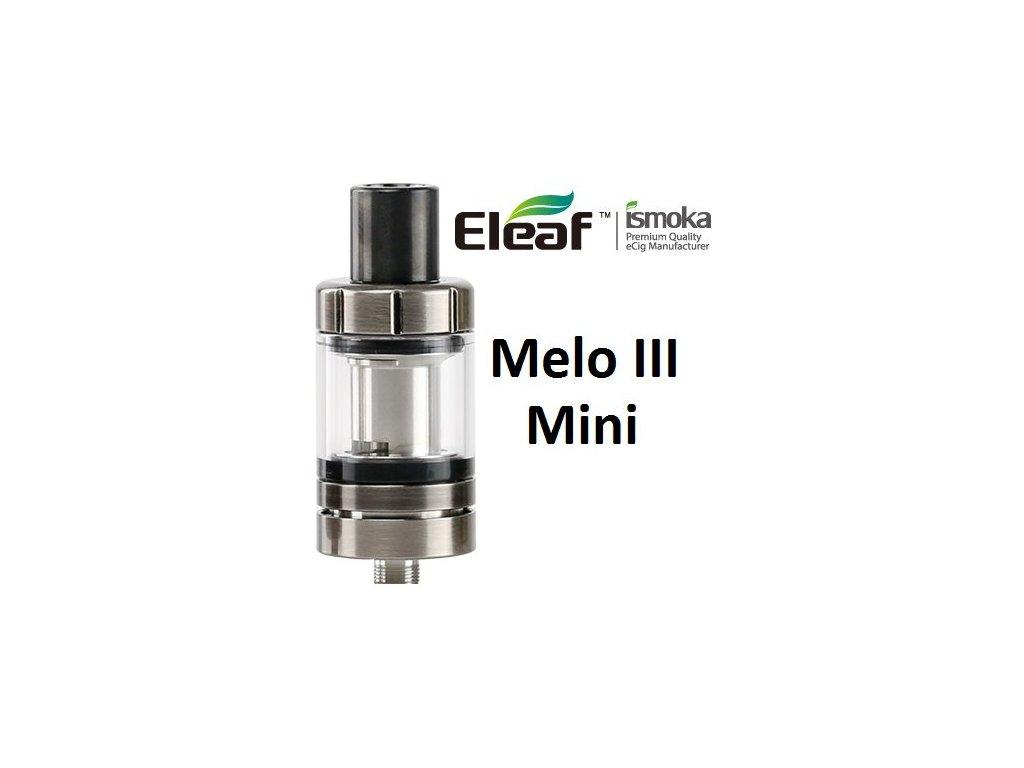 Eleaf Melo 3 Mini clearomizer Brushed Černá Stříbrná