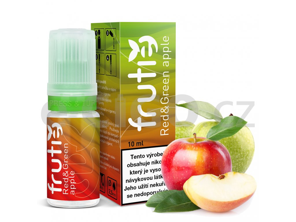 frutie jablko red and green apple 21638