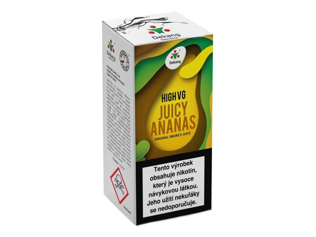 Liquid Dekang High VG Juicy Ananas 10ml - 1,5mg (Šťavnatý ananas)