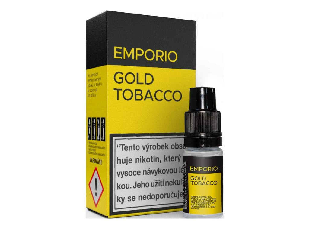 Liquid EMPORIO Gold Tobacco 10ml - 18mg