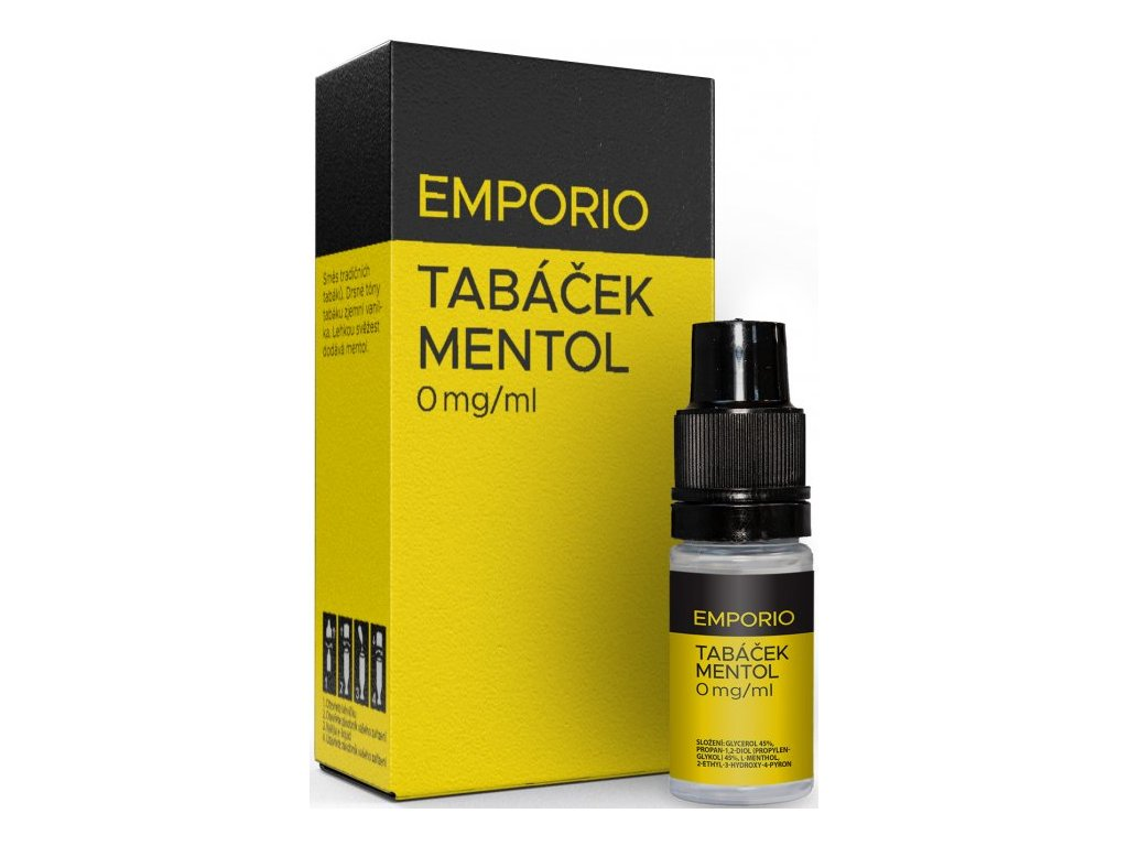 Liquid EMPORIO Tabáček - Mentol 10ml - 0mg