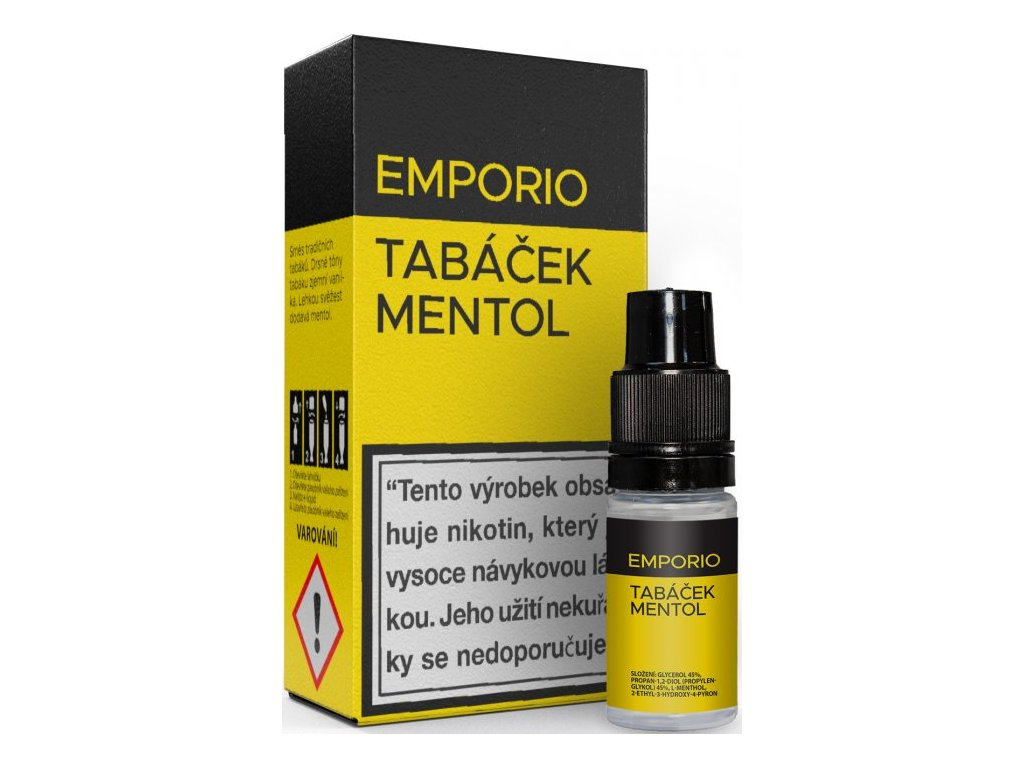 Liquid EMPORIO Tabáček - Mentol 10ml - 3mg
