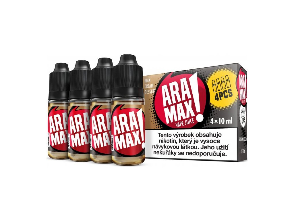 Liquid ARAMAX 4Pack Max Cream Dessert 4x10ml-3mg