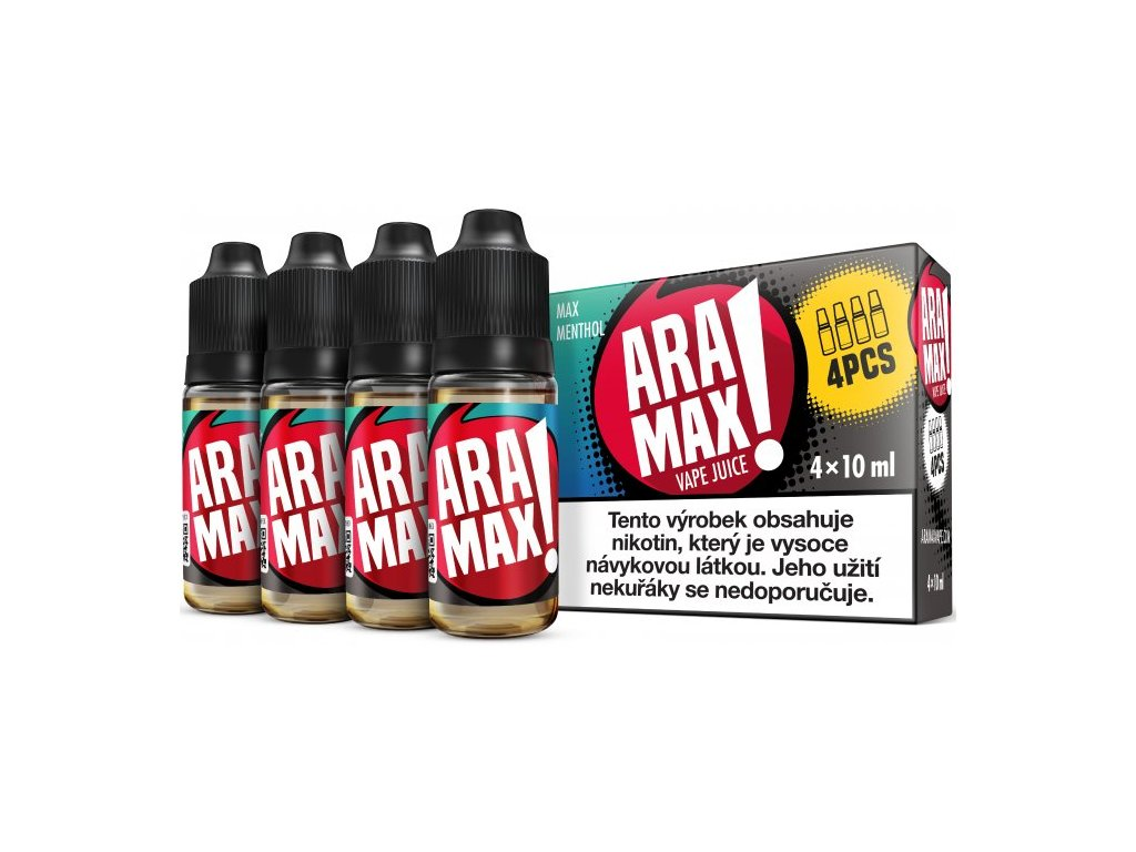 Liquid ARAMAX 4Pack Max Menthol 4x10ml-3mg