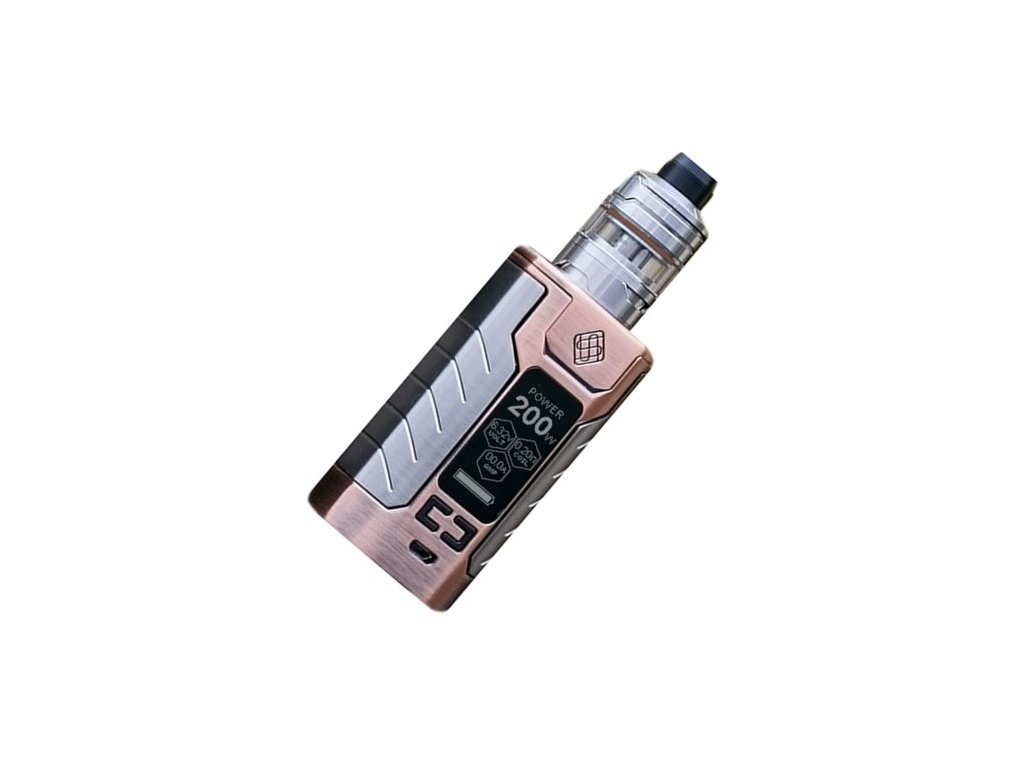 Wismec SINUOUS FJ200 grip 4600mAh Full Kit Bronzová